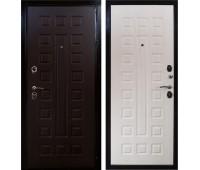 Входная металлическая дверь Арма Реал (Венге / Дуб беленый)