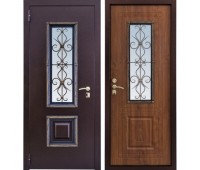 Входная металлическая дверь Ажур (Итальянский Орех)