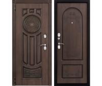 Входная металлическая дверь Лео (голден патина)