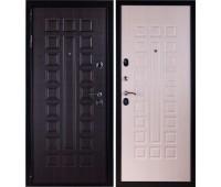 Входная металлическая дверь Премиум 3К (венге/дуб беленый)
