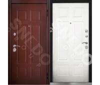 Металлическая дверь Снедо Консул 2К шагрень коричневая/белый матовый